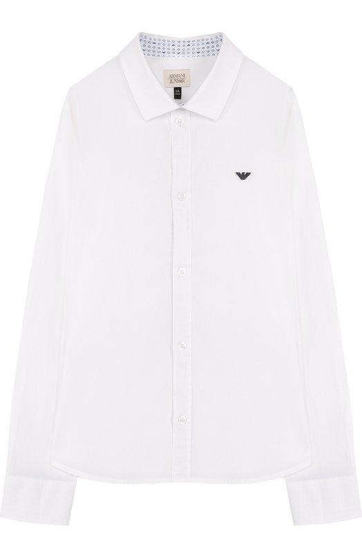 Хлопковая рубашка Armani Junior