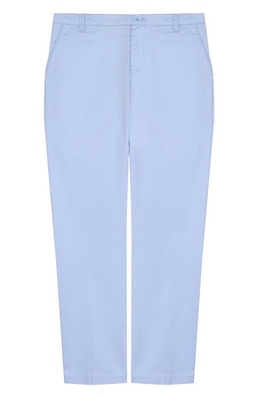 Купить Хлопковые брюки прямого кроя Armani Junior, 3Z4P14/4NFEZ/11A-16A, Китай, Голубой, Хлопок: 97%; Эластан: 3%;