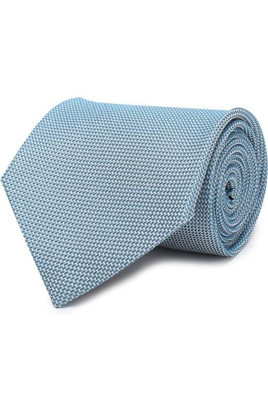 Купить Шелковый галстук Tom Ford, 3TF11/XTF, Италия, Бирюзовый, Шелк: 100%;