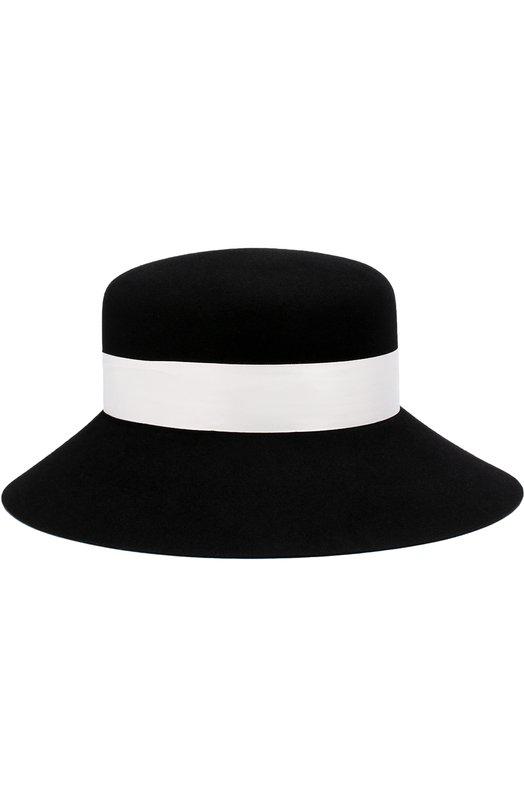 Купить Фетровая шляпа New Kendall с лентой Maison Michel, 1064010001/NEW KENDALL, Германия, Черный, Фетр/кролик/: 100%;