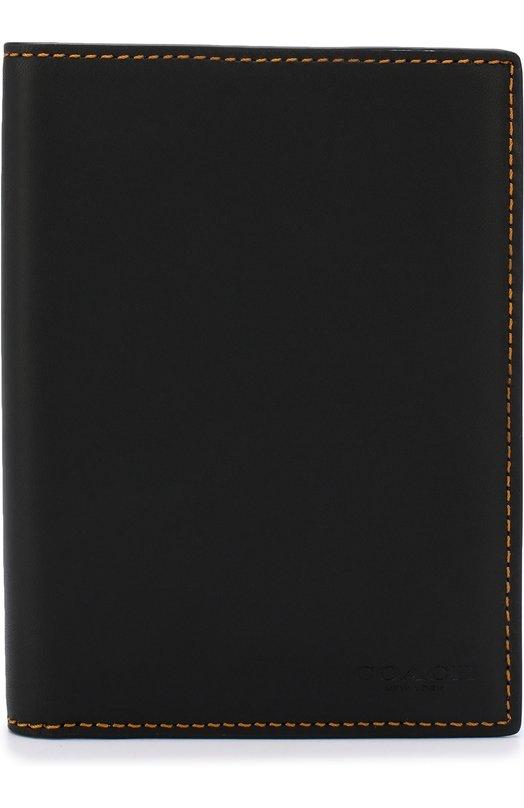 Купить Кожаный футляр для документов Coach, 22875, Вьетнам, Черный, Кожа натуральная: 100%;