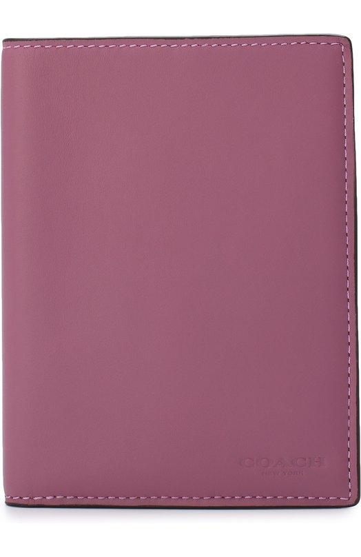 Купить Кожаный футляр для документов Coach, 22875, Вьетнам, Розовый, Кожа натуральная: 100%;