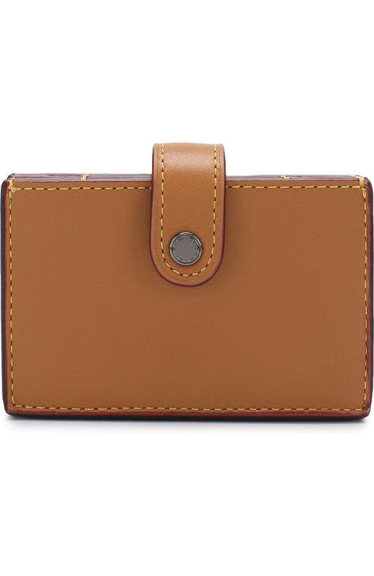 Купить Кожаный футляр для кредитных карт Coach, 54581, Индия, Бежевый, Кожа натуральная: 100%;