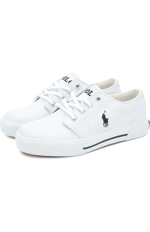 Купить HUG0 II/CHIL, Резиновые кеды на шнуровке Polo Ralph Lauren, Китай, Белый, Подошва-резина: 100%; Резина: 100%; Стелька-текстиль: 100%;, Женский, Спортивная обувь