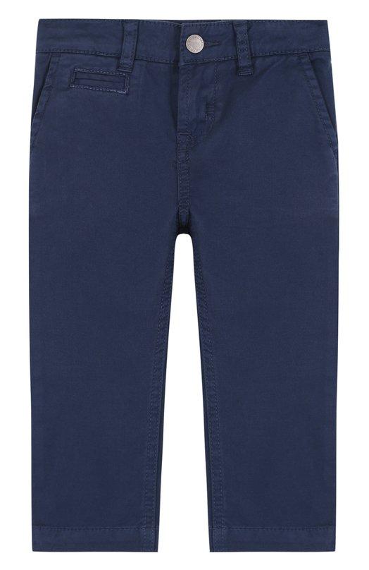 Купить Хлопковые брюки прямого кроя Stella McCartney, 491834/SKK57, Китай, Синий, Хлопок: 98%; Эластан: 2%;