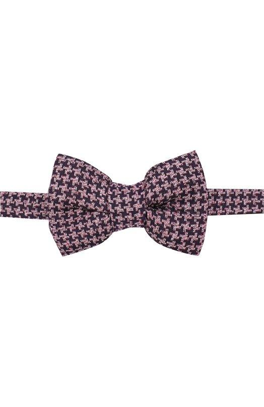 Купить Галстук-бабочка из смеси шелка и льна Tom Ford, 3TF66/4CH, Италия, Розовый, Шелк: 82%; Лен: 18%;