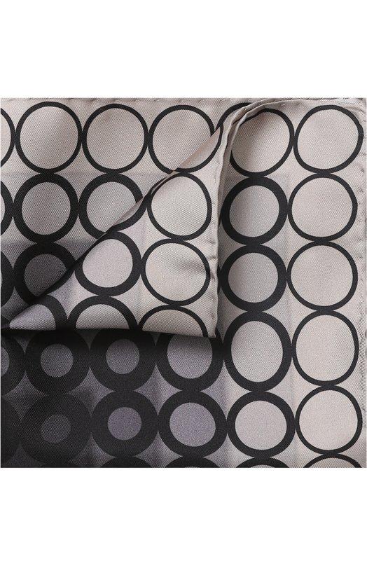 Купить Шелковый платок с узором Tom Ford, 3TF100/TF312, Италия, Темно-серый, Шелк: 100%;