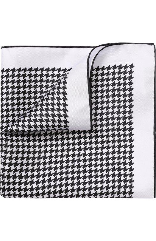 Купить Шелковый платок с узором Tom Ford, 3TF105/TF312, Италия, Белый, Шелк: 100%;