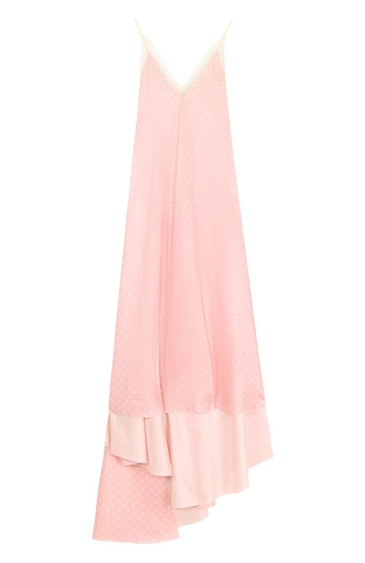 Купить Шелковое платье-комбинация асимметричного кроя Walk of Shame, DE006-PS18, Россия, Розовый, Шелк: 100%;