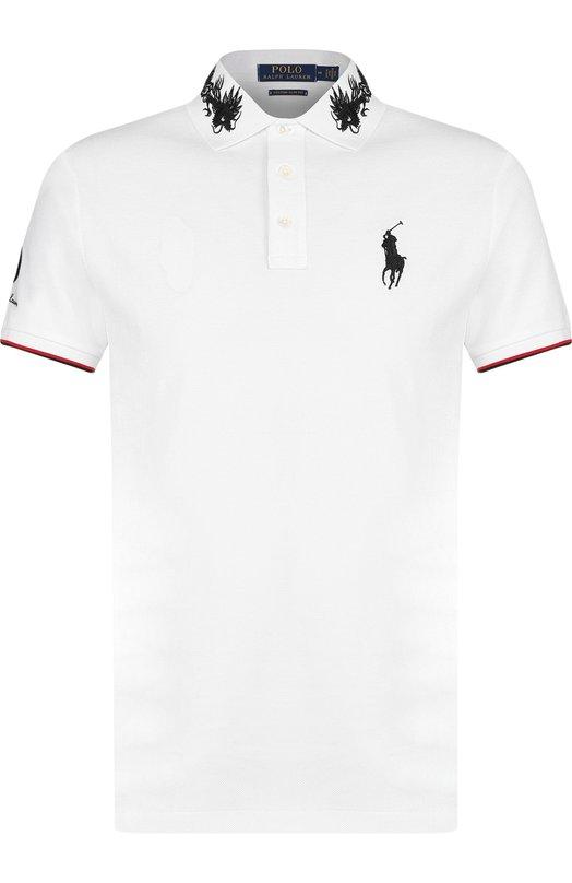 Купить Хлопковое поло с короткими рукавами Polo Ralph Lauren, 710688914, Китай, Белый, Хлопок: 100%;