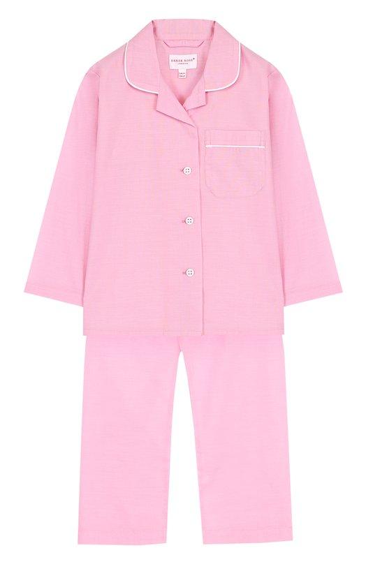 Купить Хлопковая пижама Derek Rose, 7006-AMAL001/3-12, Чехия, Розовый, Хлопок: 100%;