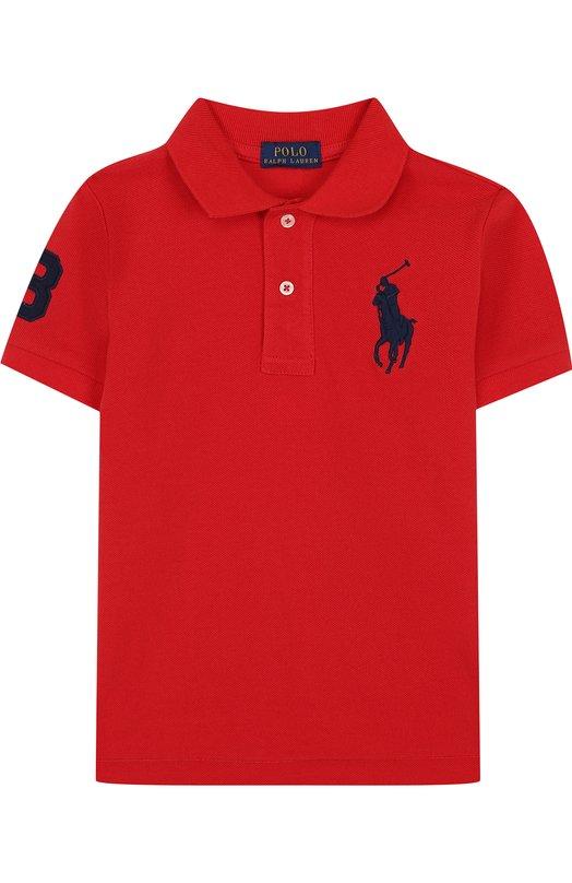 Купить Хлопковое поло с нашивкой Polo Ralph Lauren, 323694738, Китай, Красный, Хлопок: 100%;