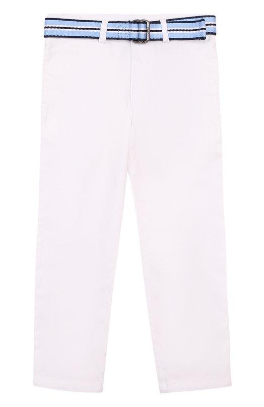 Купить Хлопковые брюки с ремнем Polo Ralph Lauren, 322689318, Китай, Белый, Хлопок: 98%; Эластан: 2%;