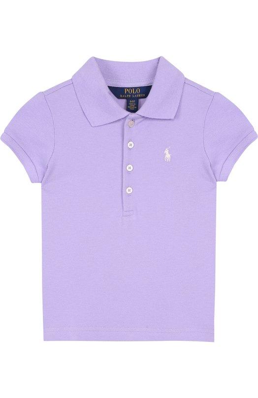 Купить Хлопковое поло с логотипом бренда Polo Ralph Lauren, 311688656, Китай, Фиолетовый, Хлопок: 98%; Эластан: 2%;
