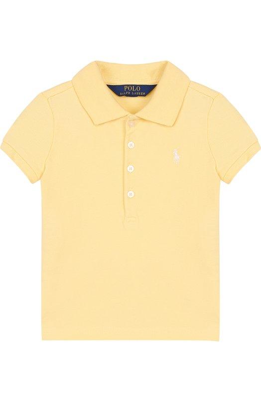 Купить Хлопковое поло с логотипом бренда Polo Ralph Lauren, 312688656, Китай, Желтый, Хлопок: 98%; Эластан: 2%;