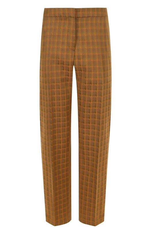 Купить Укороченные брюки в клетку со стрелками Dries Van Noten, 181-30956-5025, Венгрия, Песочный, Полиамид: 78%; Эластан: 4%; Хлопок: 18%;