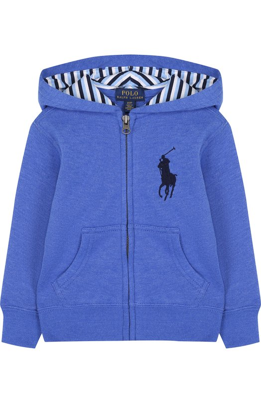 Купить Спортивный кардиган на молнии с капюшоном Polo Ralph Lauren, 321690099, Китай, Синий, Хлопок: 60%; Полиэстер: 40%;