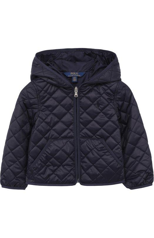 Купить Стеганая куртка с капюшоном Polo Ralph Lauren, 311680618, Китай, Синий, Полиэстер: 100%; Подкладка-полиэстер: 100%;