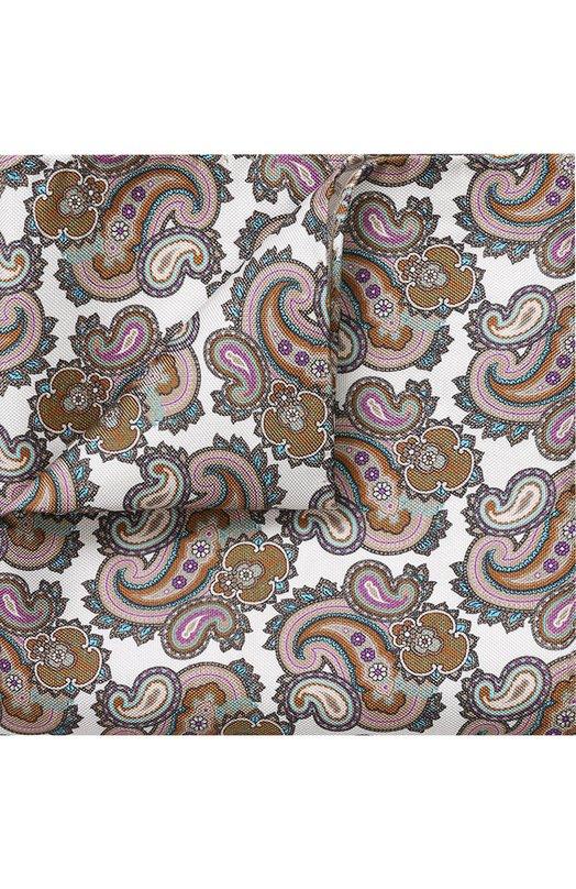 Купить Шелковый платок с узором пейсли Eton, A000 30472, Италия, Белый, Шелк: 100%;