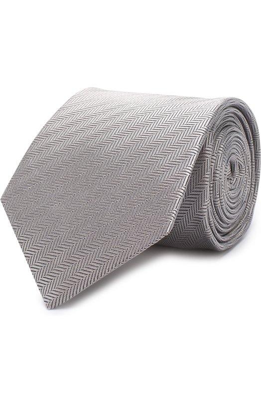 Купить Шелковый галстук Eton, A000 19999, Великобритания, Светло-серый, Шелк: 100%;