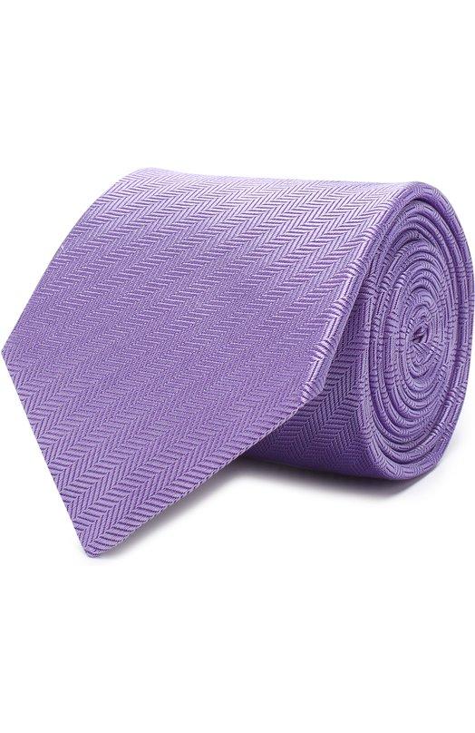 Купить Шелковый галстук Eton, A000 19999, Великобритания, Сиреневый, Шелк: 100%;