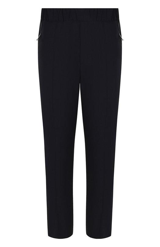 Купить Шерстяные брюки прямого кроя с поясом на резинке Stella McCartney, 505433/SK013, Венгрия, Темно-синий, Шерсть: 100%; Подкладка-вискоза: 100%;