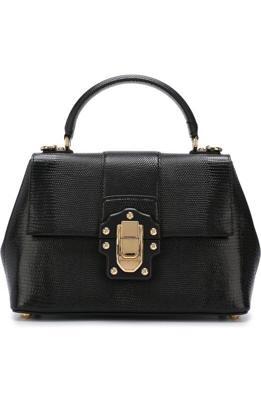 Купить Сумка Lucia Dolce & Gabbana, BB6312/A1095, Италия, Черный, Кожа натуральная: 100%;