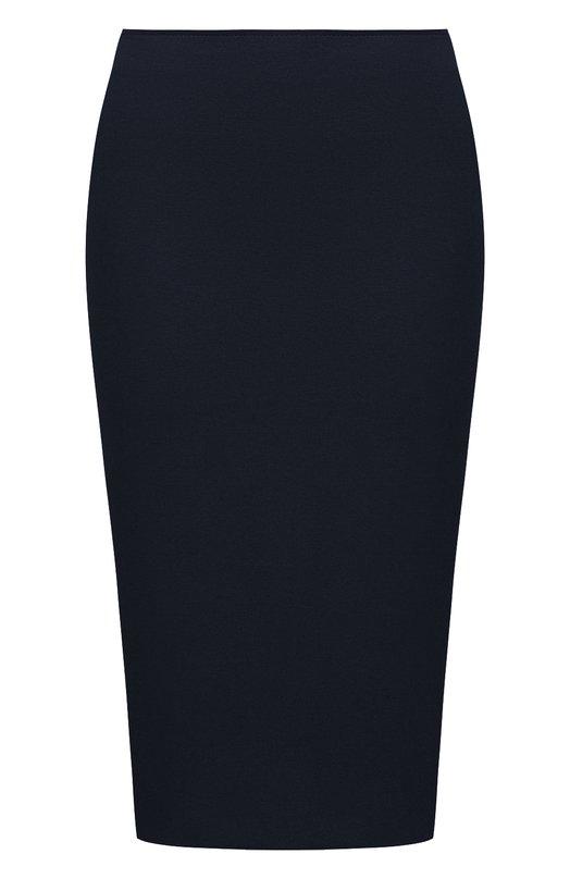 Купить Однотонная юбка-карандаш из вискозы Emporio Armani, 3Z2N6A/2JFAZ, Молдова, Темно-синий, Вискоза: 77%; Эластан: 6%; Полиамид: 17%;