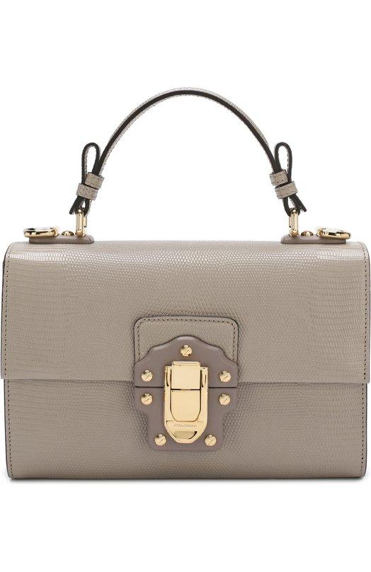 Купить Сумка Lucia Dolce & Gabbana, BB6260/A1095, Италия, Серый, Кожа натуральная: 100%;