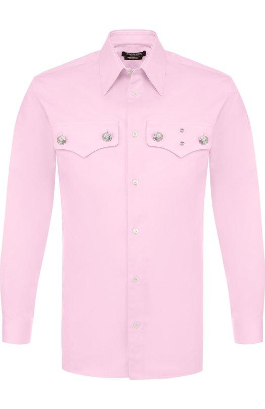 Купить Хлопковая рубашка с нагрудными карманами CALVIN KLEIN 205W39NYC, 81MWTA84/C173, Италия, Розовый, Хлопок: 100%;