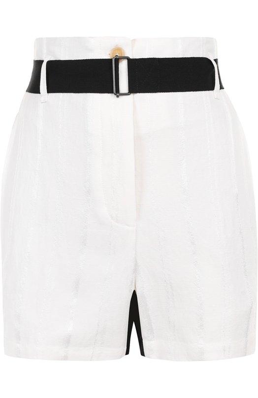 Мини-шорты с карманами и контрастным поясом Ann Demeulemeester