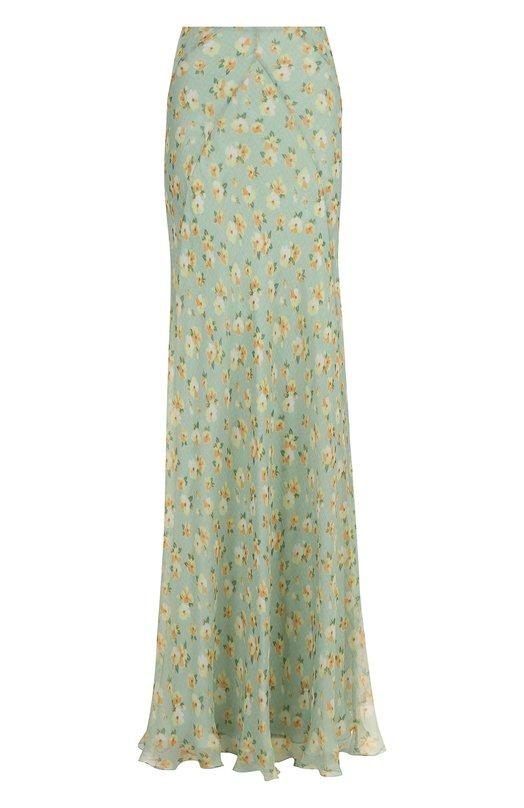 Шелковая юбка-макси с цветочным принтом Ralph Lauren Ralph Lauren