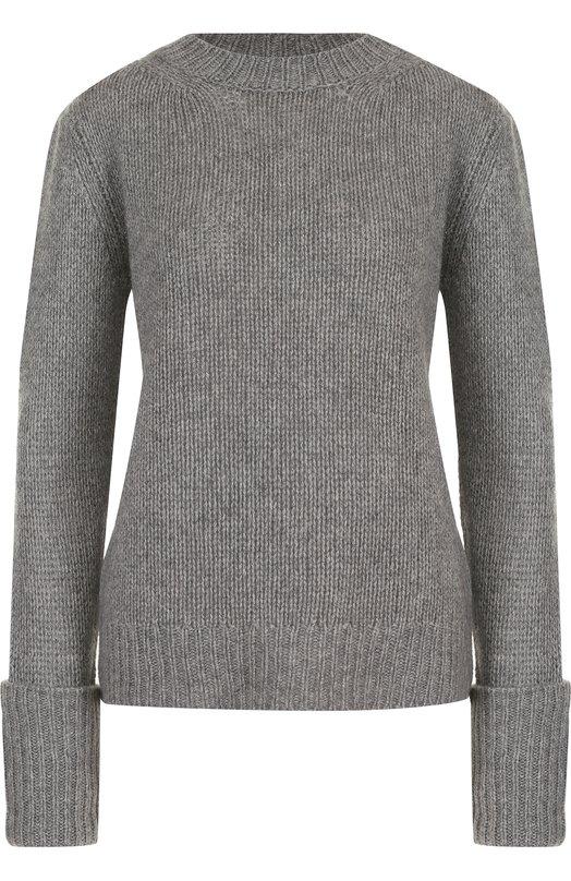 Купить Однотонный кашемировый пуловер фактурной вязки The Row, 3840Y187, США, Серый, Кашемир: 100%;