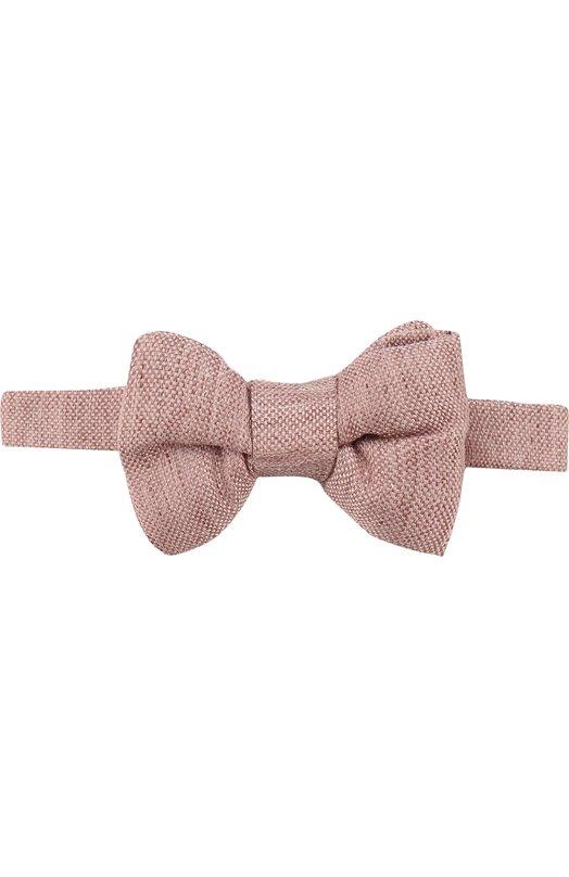 Купить Галстук-бабочка из смеси льна и шелка Tom Ford, 3TF10/4CH, Италия, Розовый, Лен: 72%; Шелк: 28%;