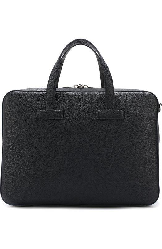 Купить Кожаная сумка для ноутбука с плечевым ремнем Tom Ford, 118H0353H-C92/217, Италия, Темно-синий, Кожа натуральная: 100%;