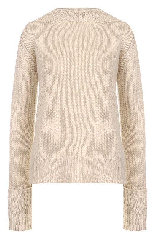 Купить Однотонный кашемировый пуловер фактурной вязки The Row, 3840Y187, США, Бежевый, Кашемир: 100%;