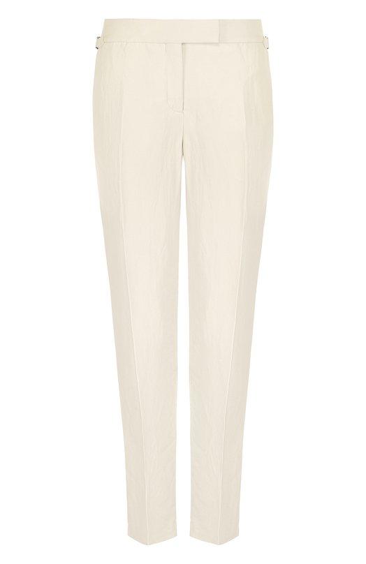 Купить Однотонные брюки со стрелками Tom Ford, PAW114-FAX330, Италия, Бежевый, Вискоза: 72%; Лен: 28%; Подкладка-шелк: 100%;