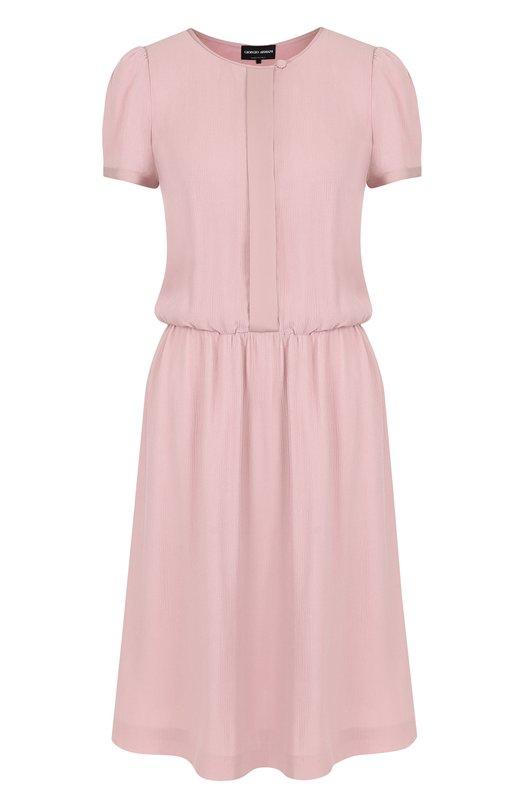 Купить Однотонное приталенное мини-платье Giorgio Armani, WAA54T/WA524, Италия, Розовый, Подкладка-шелк: 94%; Подкладка-эластан: 6%; Вискоза: 100%;