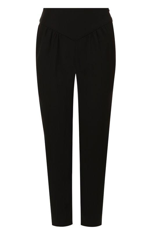 Купить Укороченные однотонные брюки с драпировкой Emporio Armani, WNP17T/WM015, Китай, Черный, Полиэстер: 100%;