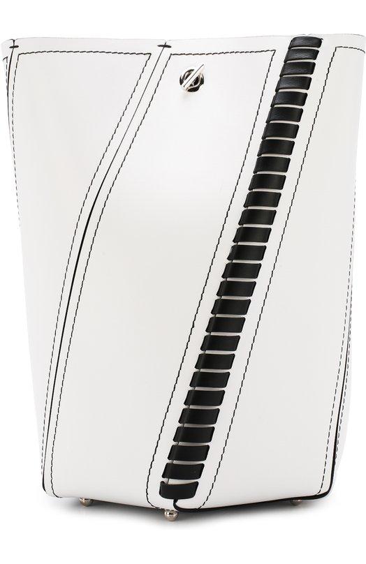 Купить Кожаная сумка Hex Medium с косметичкой Proenza Schouler, H00429-C169P, Италия, Черно-белый, Кожа натуральная: 100%;