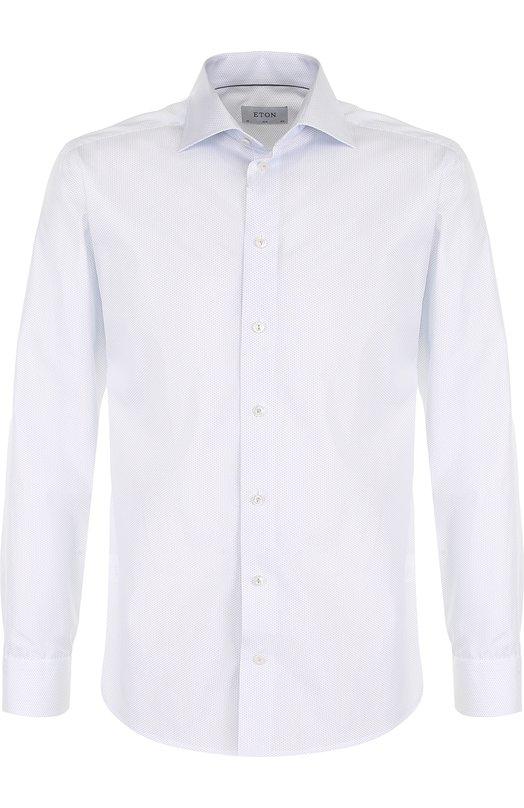 Купить Хлопковая сорочка с воротником кент Eton, 2715 79573, Румыния, Голубой, Хлопок: 100%;