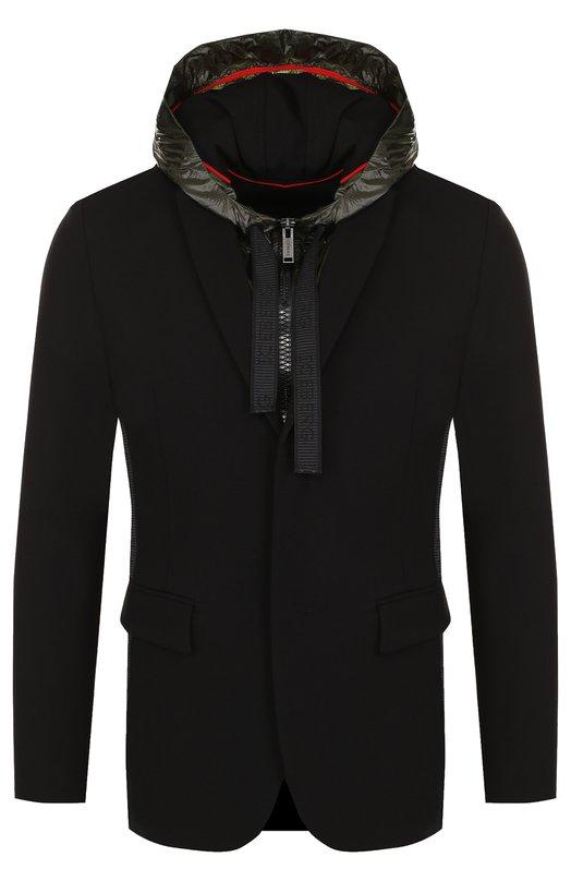Купить Однобортный пиджак из вискозы с подстежкой Iceberg, 18E I1P0/L040/4938, Италия, Черный, Вискоза: 69%; Эластан: 6%; Полиэстер: 25%;