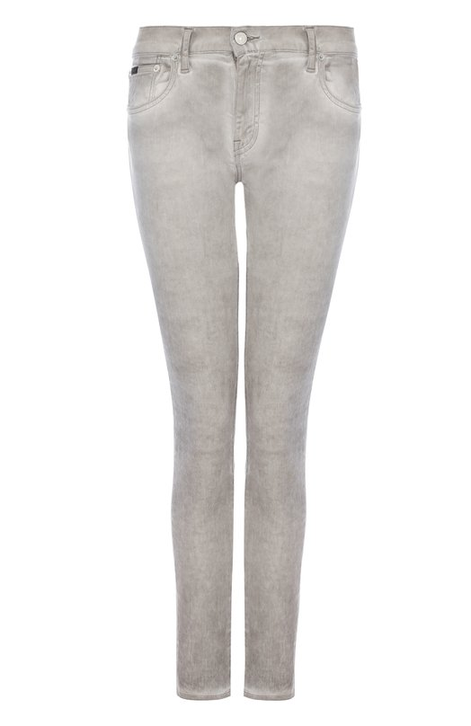 Купить Укороченные джинсы-скинни с потертостями Polo Ralph Lauren, 211683972, Маврикий, Серый, Хлопок: 94%; Полиэстер: 5%; Эластан: 1%;