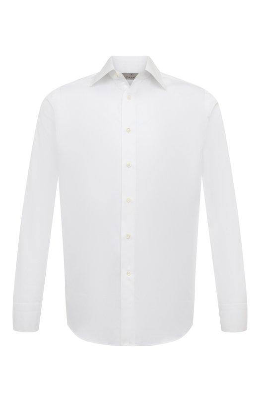 Купить Хлопковая сорочка с воротником кент Canali, 705/GA60135, Италия, Белый, Хлопок: 100%;