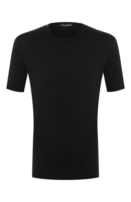 Купить Хлопковая футболка с круглым вырезом Dolce & Gabbana, G8GX8T/FU7EQ, Италия, Черный, Хлопок: 100%;