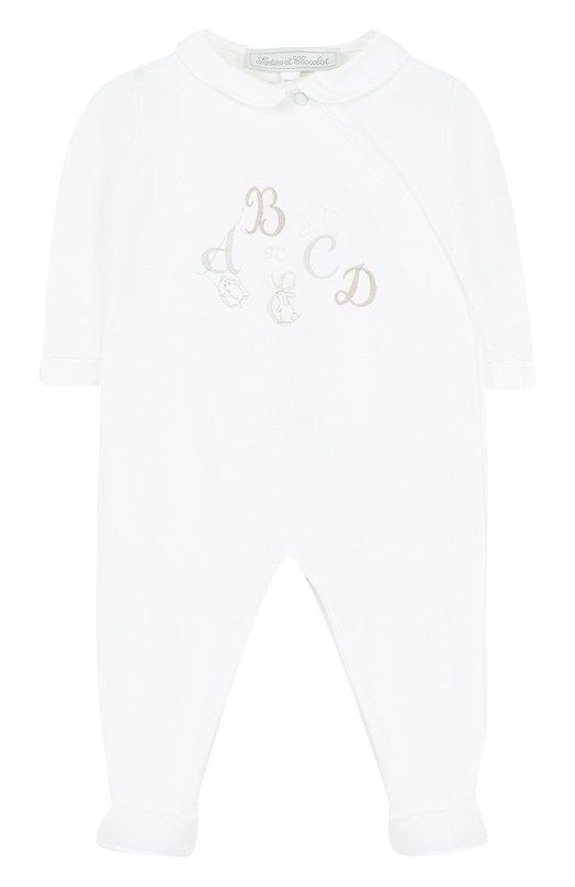 Купить Хлопковая пижама с вышивкой Tartine Et Chocolat, TL54061, Португалия, Белый, Хлопок: 100%;