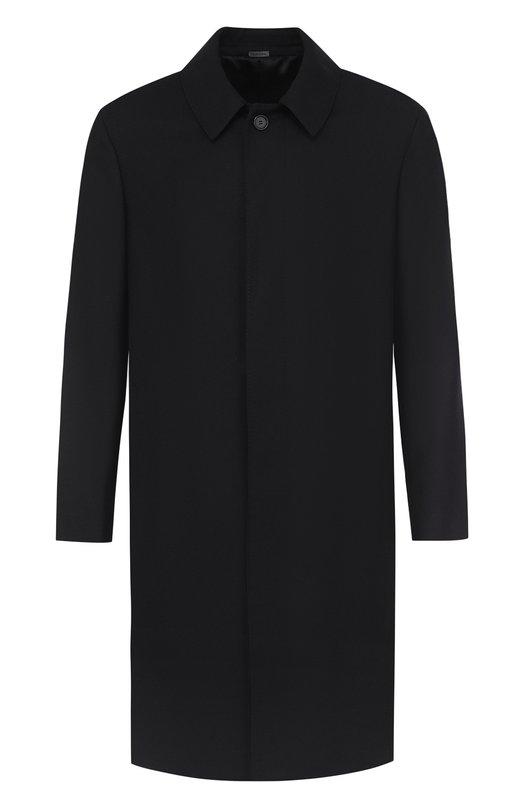 Однобортное шерстяное пальто прямого кроя Lanvin