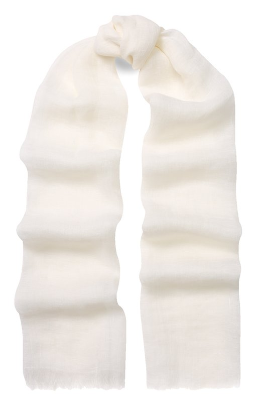 Купить Льняной шарф с необработанным краем 120% Lino, N0WA086/F164/000, Болгария, Белый, Лен: 100%;