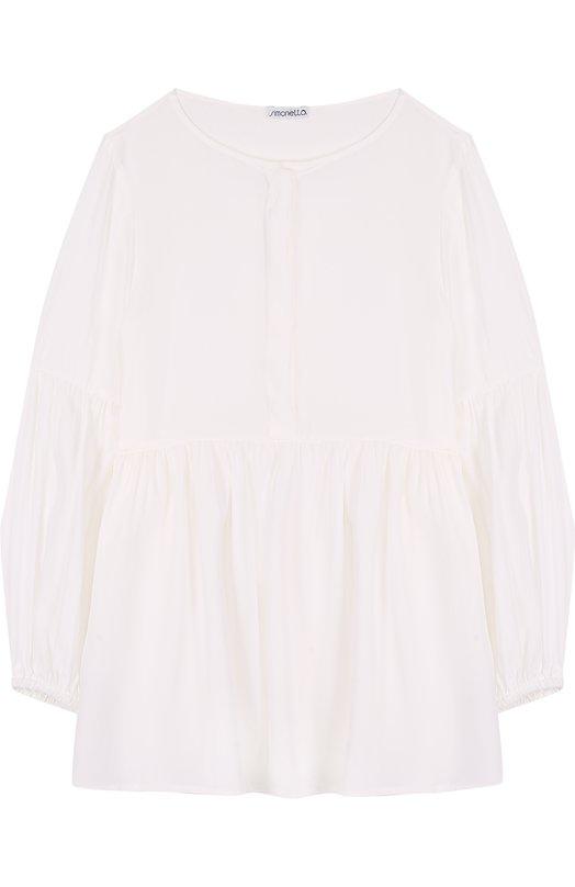 Блуза свободного кроя с круглым вырезом Simonetta