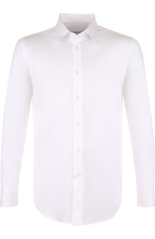 Купить Хлопковая рубашка с воротником кент Brioni, UJ5Z13/PZ600, Италия, Белый, Хлопок: 100%;